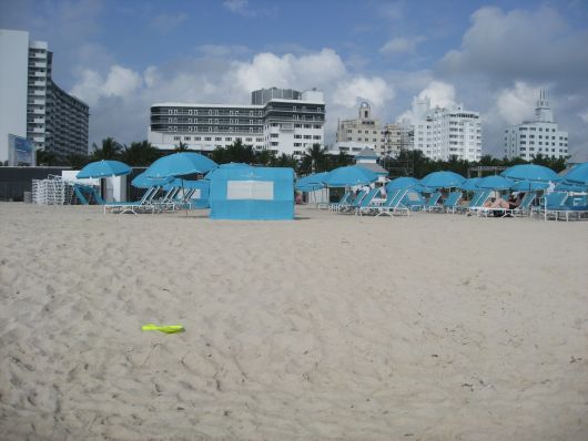 Hotelstrand vom Ritz Carlton South Beach