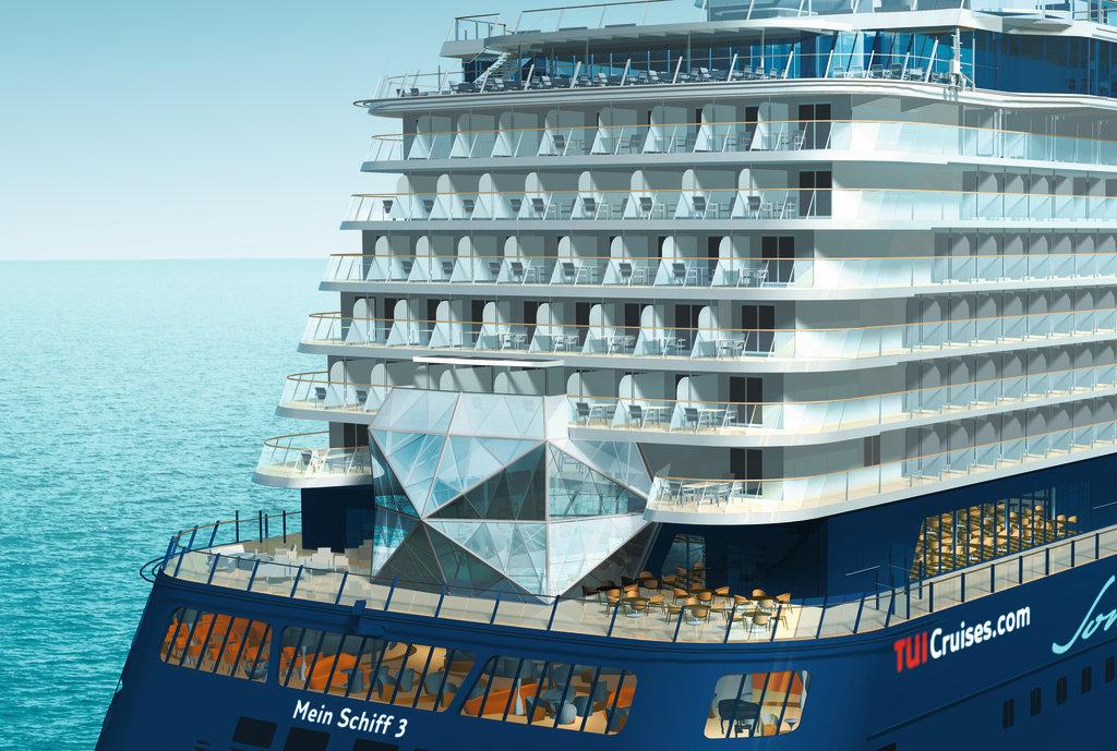 Der Diamant am Heck der Mein Schiff 3 © TUI Cruises GmbH