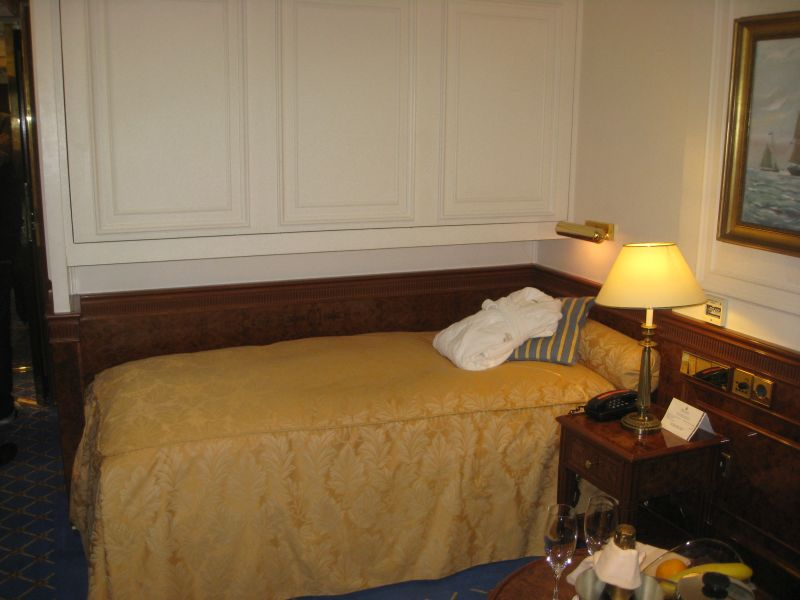 Außenkabine mit Ober- und Unterbett